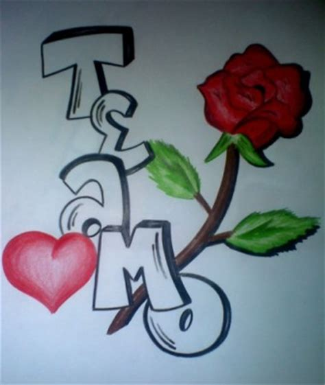 imagenes que digan zaira graffitis de te amo a lapiz imagui