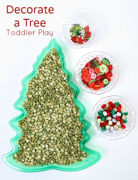 tree and toddler decorate a tree toddler sensory play