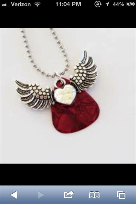 guitar pick tattoo guitar idea wings