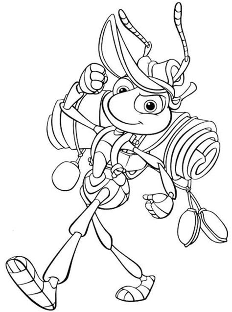 A Bugs Life Coloring Pages Coloringpages1001 Com A Coloring Book
