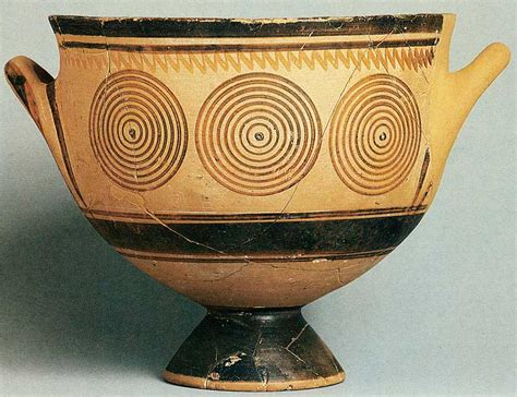 Geometric Vase Painting by 187 Ancient Pottery Gwen Minor