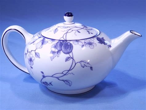 Bone China Teapot wedgwood blue plum bone china teapot sold collectable china