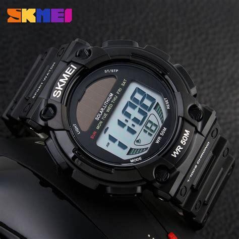 Jam Tangan Digital 5 skmei jam tangan digital pria dg1126 black jakartanotebook