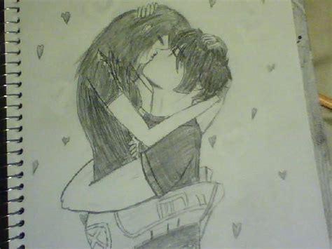 Anime Couples Kissing Sketches | anime couple kiss by mitsudori777 on deviantart