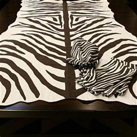 zebra pattern table runner zebra brown and white table runner