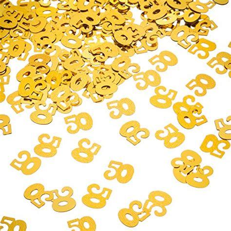 gold 50 table confetti willbond gold 50th birthday confetti 50 number confetti