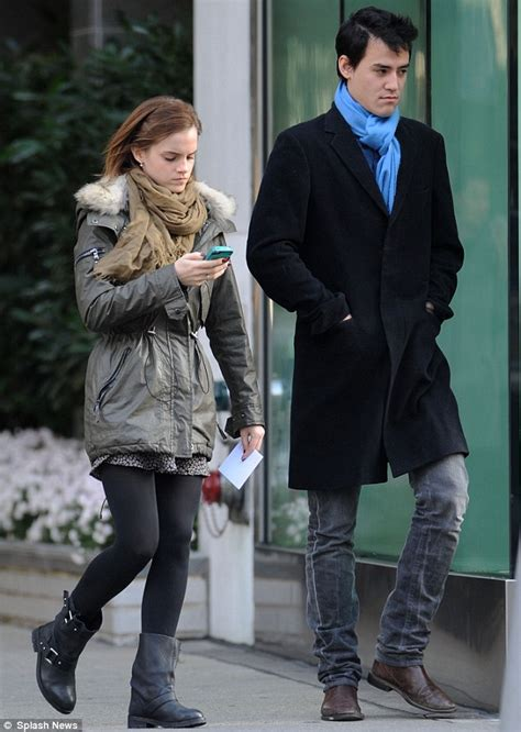 emma watson oxford university emma watson only has eyes for her mobile phone as she