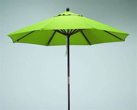 Lime Green Patio Umbrella Premium 9 Foot Lime Green Wood Patio Umbrella Contemporary Outdoor Umbrellas By
