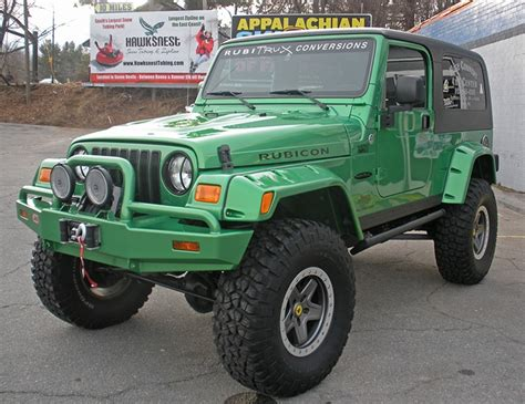 Lime Green Lifted Jeep 2004 Electric Lime Green Jeep Wrangler Unlimited With A