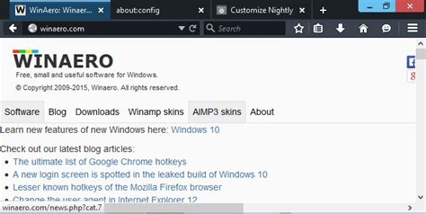 themes for firefox nightly firefox 40 features several significant ui changes again