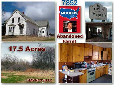 Grand Lakes Garage Sale by Maine Abandoned Farm Home For Sale With 17 Plus Acres Of