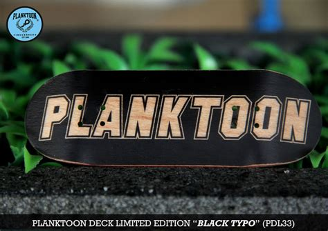 Planktoon Fingerboard Top Dual Set Deck Collection planktoon deck limited quot black typo quot pdl33