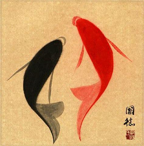 13 abstract cartoon wrist tattoos abstract yin yang fish painting asian arts crafts