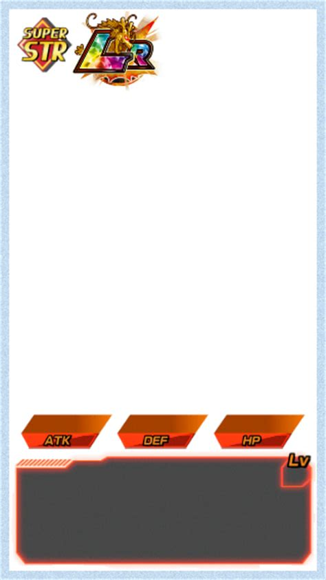 battle card templates dokkan battle templates card info by 345boneshoss