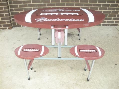 tailgate folding picnic table budweiser bud light folding football tailgate