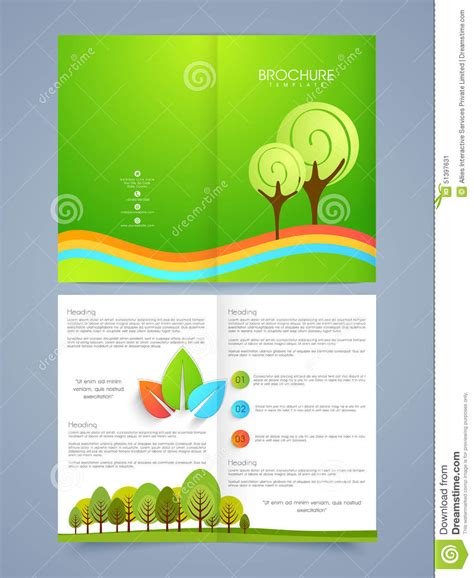 nature brochure template or flyer design stock business brochure flyer or template design stock photo