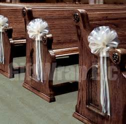 Church Pew Home Decor by 6 Large Ivory Pew Pull Bows Net Tulle Perfect Church Chair
