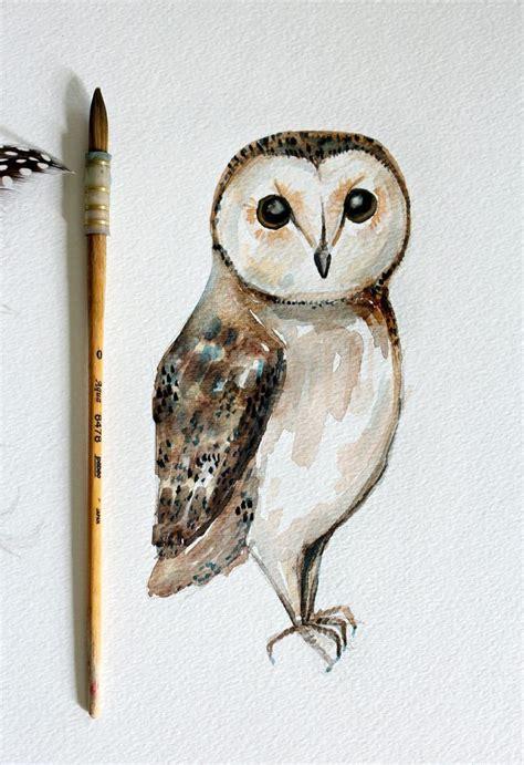 Watercolor Owl Tutorial | diy owl watercolor painting simple watercolor