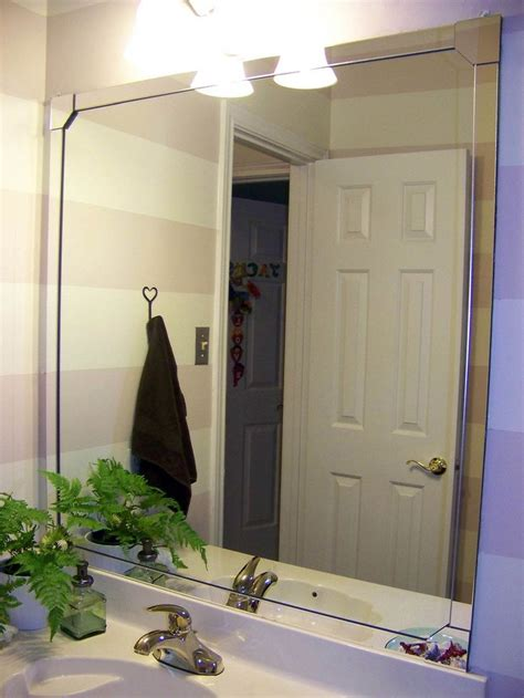 Mirror Trim For Bathroom Mirrors 17 Best Ideas About Framed Bathroom Mirrors On Pinterest Diy Bathroom Remodel Framing A