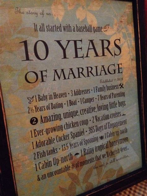 10 Year Anniversary Gift Ideas For by 10 Year Wedding Anniversary Gift Ideas For