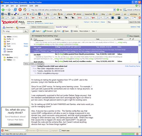 How To Search Email In Yahoo Zawodny S September 2005 Archives