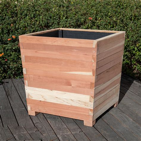 Commercial Planter Pots by Commercial Redwood Planters With Planters Unlimited