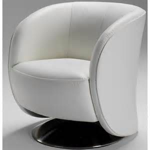 fauteuil cuir design pivotant arno blanc