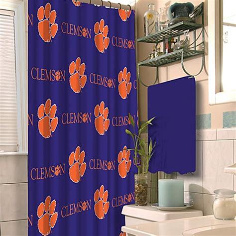 clemson curtains clemson university 72 inch x 72 inch fabric shower curtain