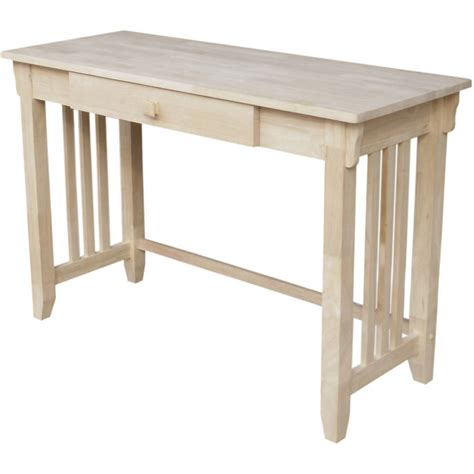 walmart desk with drawers international concepts 1 drawer writing desk unfinished
