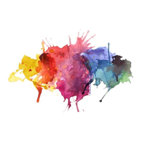 water colors paint splatter transparent png stickpng