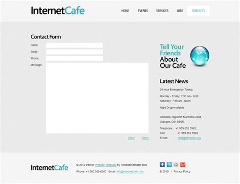 jquery slider website templates free free website template for cafe jquery slider