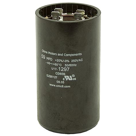 motor start run capacitor 59 70 mfd 250 vac motor start capacitor motor start capacitors capacitors electrical www