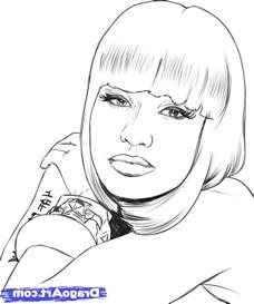 coloring pages of nicki minaj luxury nicki minaj coloring pages 72 for your picture