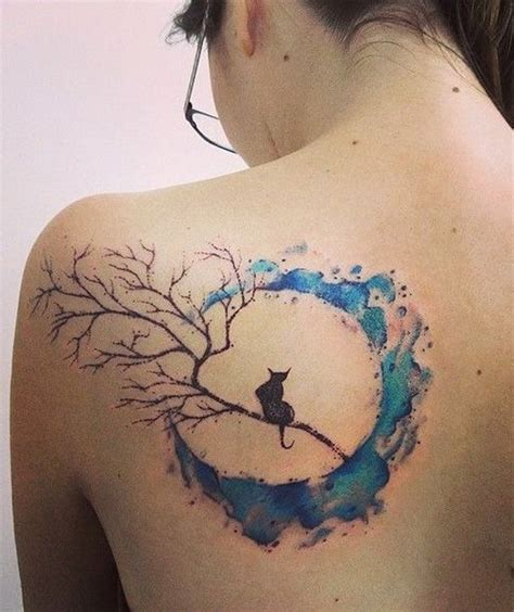 moon tattoo on back 50 beautiful watercolor designs and ideas that will