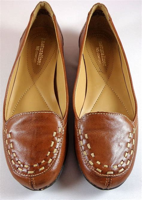 naturalizer  comfort shoes womens   brown leather flats intense flats oxfords