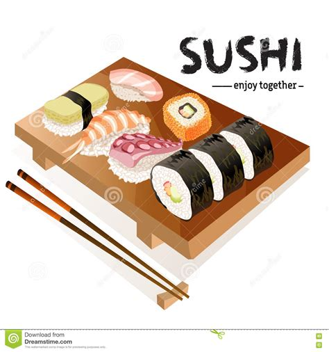 Japanese Food Culture Essay by Sushi Background Design Stock Vector Image 74866021
