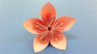 Easy Folded Paper Flowers - how to make a kusudama paper flower easy origami