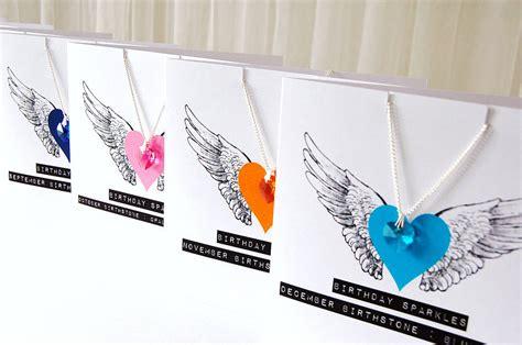 Swarovski Gift Card - swarovski crystal birthstone necklace gift card by made with love designs ltd