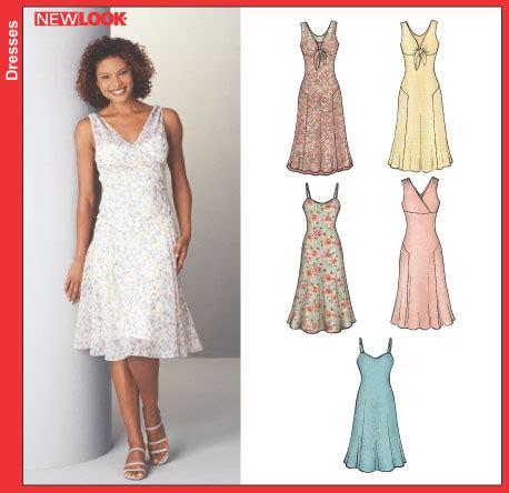 pattern review uk new look 6244 misses dress snd slip dress