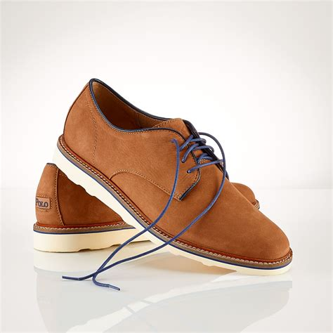 polo ralph oxford shoes polo ralph wilber suede oxford in brown for