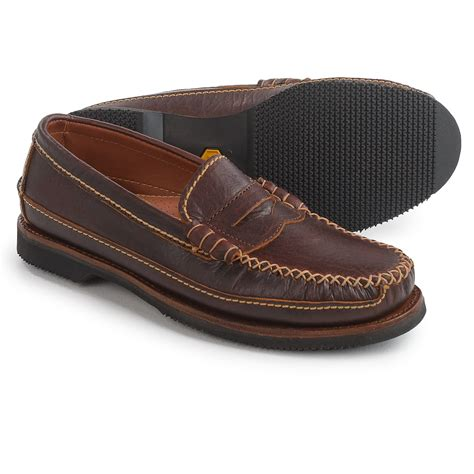 loafers leather chippewa american bison leather loafers for