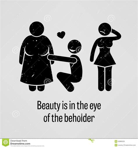 beauty is in the eye of the beholder tattoo is in the eye of the beholder stock vector image
