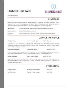 Resume In 2017 by Resume Format 2017 20 Free Word Templates