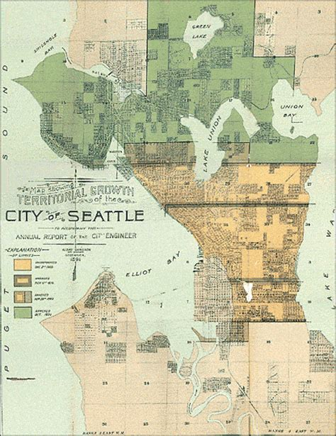 seattle map vintage seattle history the seattle times