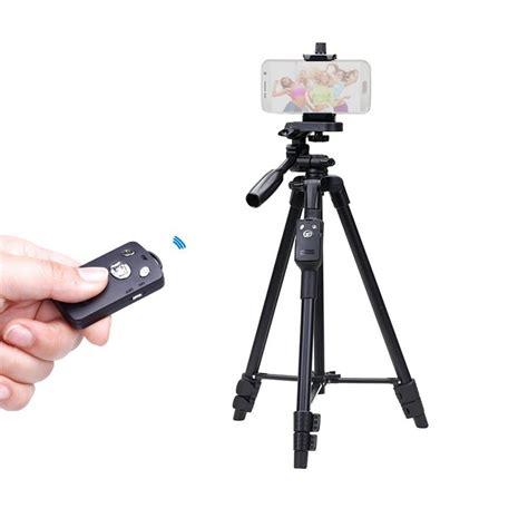 Tripod Remote yunteng 5208 lightweight aluminum tripod with bluetooth