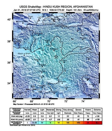 earthquake depth earthquake news 6 1m quake hits pakistan afghanistan and