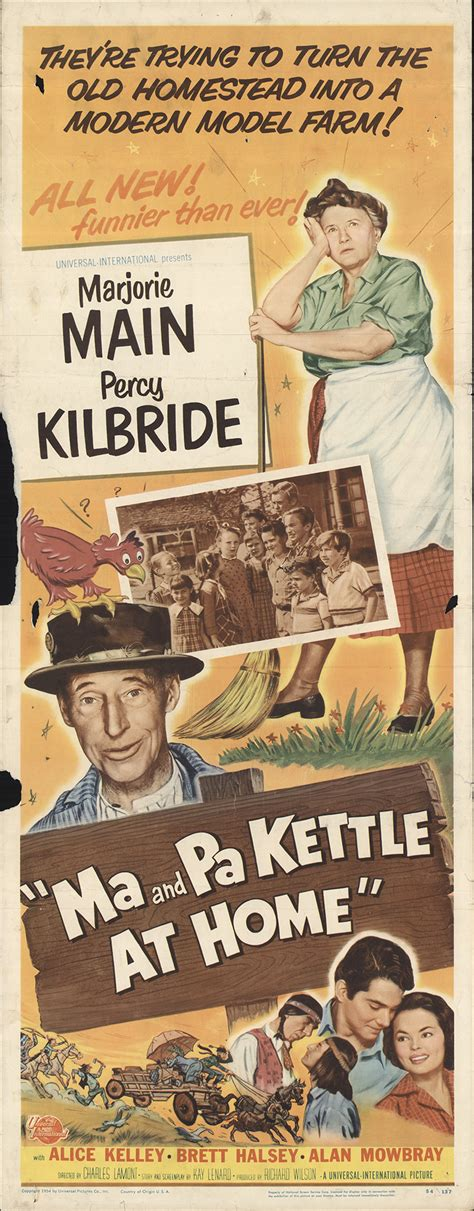 ma and pa kettle at home 1954 original poster fff