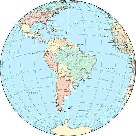 south america on the world map south america planetolog