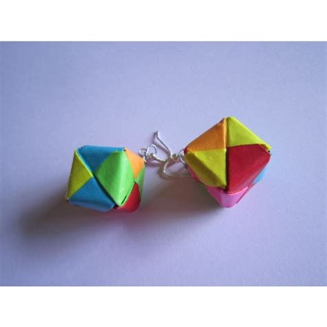 Buy Origami Paper - buy handmade jewelry origami paper box earrings