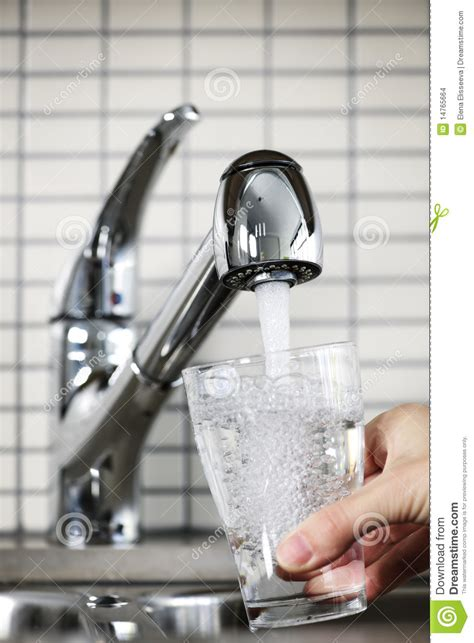 Filling Glass Of Tap Water Stock Images   Image: 14765664